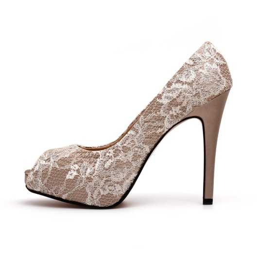 Champagne Colored Wedding Shoes