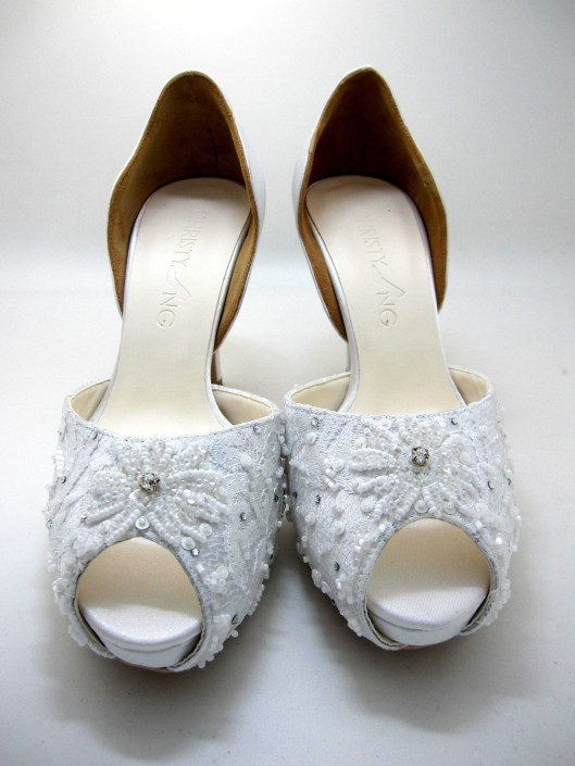 Beaded Wedding Shoe