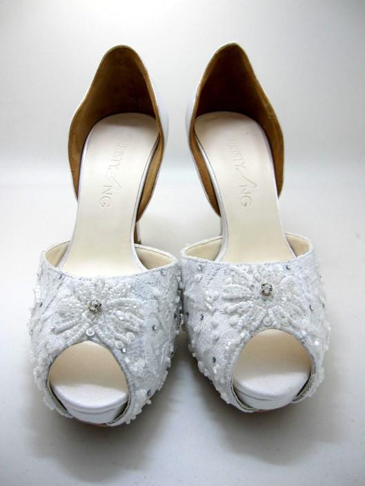 Beaded Wedding Shoe