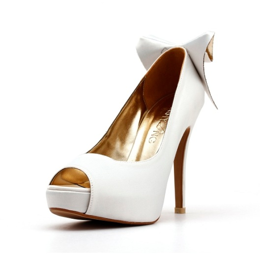 White Wedding Shoe