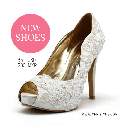 Ivroy Rose Wedding Heels