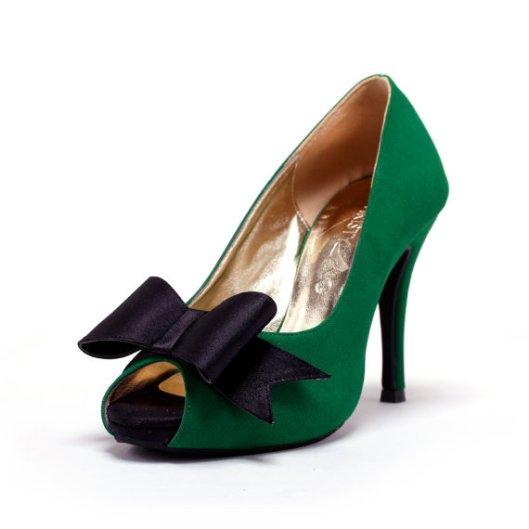 Green Bridal Heels