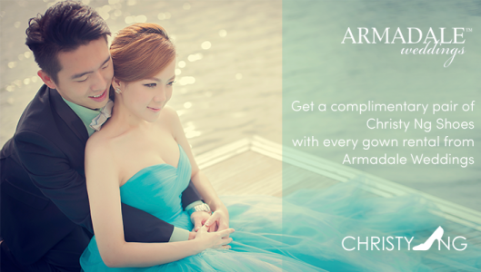 Gown Rental Promo : Get Complementary Pair of Christy Ng Shoes!