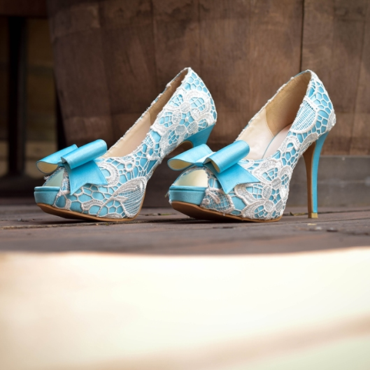 Something Blue Wedding Heels